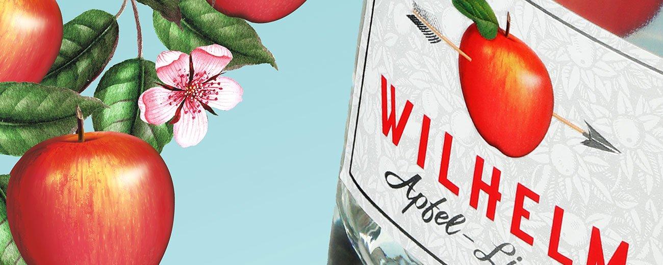 La Maison Linea crée l'identité de la liqueur suisse Wilhelm